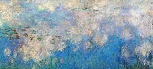 cuadros-de-paisajes - Cuadro -The Waterlilies - The Clouds (central section).- - Monet, Claude