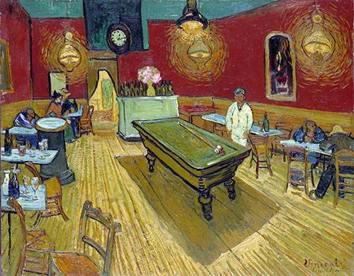 cuadros-de-retrato - Cuadro -The Night Cafe in Arles, 1888- - Van Gogh, Vincent