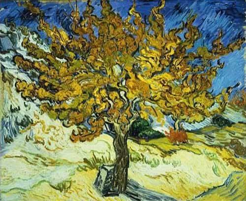 cuadros-de-paisajes - Cuadro -Mulberry Tree, 1889- - Van Gogh, Vincent