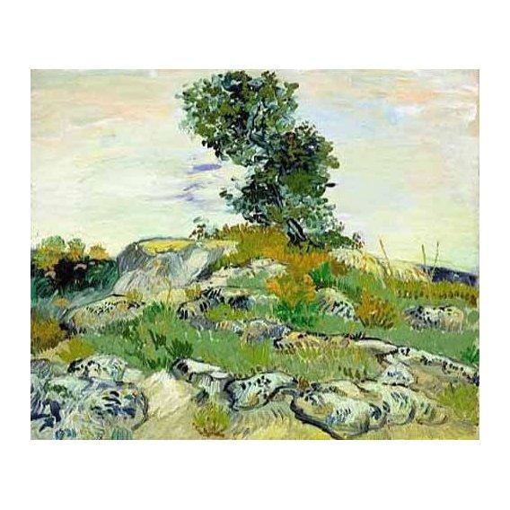 cuadros de paisajes - Cuadro -The Rocks, 1888 (oil on canvas).-