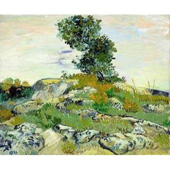 - Cuadro -The Rocks, 1888 (oil on canvas).- - Van Gogh, Vincent