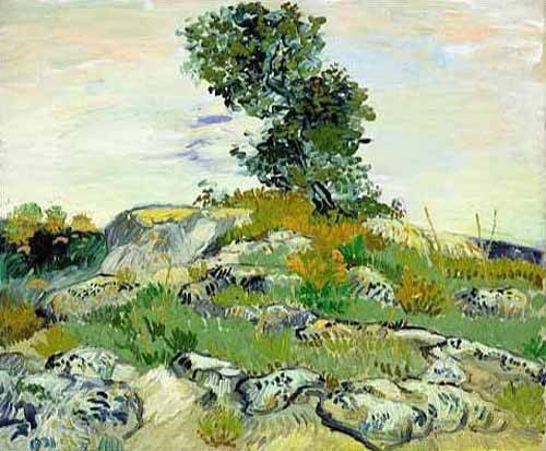 cuadros-de-paisajes - Cuadro -The Rocks, 1888 (oil on canvas).- - Van Gogh, Vincent