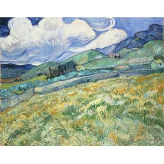 - Cuadro -The Green Wheatfield behind the Asylum, 1889- - Van Gogh, Vincent