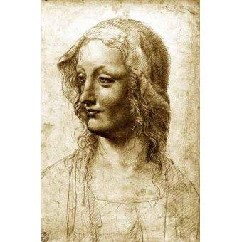 - Cuadro -Cara de una mujer- - Vinci, Leonardo da