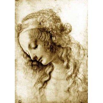 cuadros de mapas, grabados y acuarelas - Cuadro -Maria Magdalena- - Vinci, Leonardo da