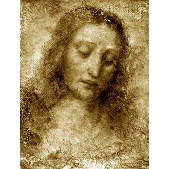cuadros religiosos - Cuadro -La Cara De Cristo- - Vinci, Leonardo da
