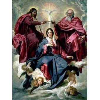 cuadros religiosos - Cuadro -Coronacion de la Virgen- - Velazquez, Diego de Silva