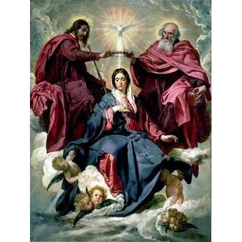 cuadros religiosos - Cuadro -Coronacion de la Virgen-