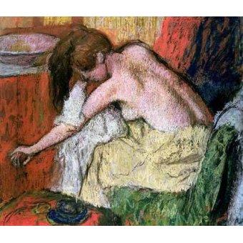 cuadros de desnudos - Cuadro -Mujer secándose, 1888- - Degas, Edgar