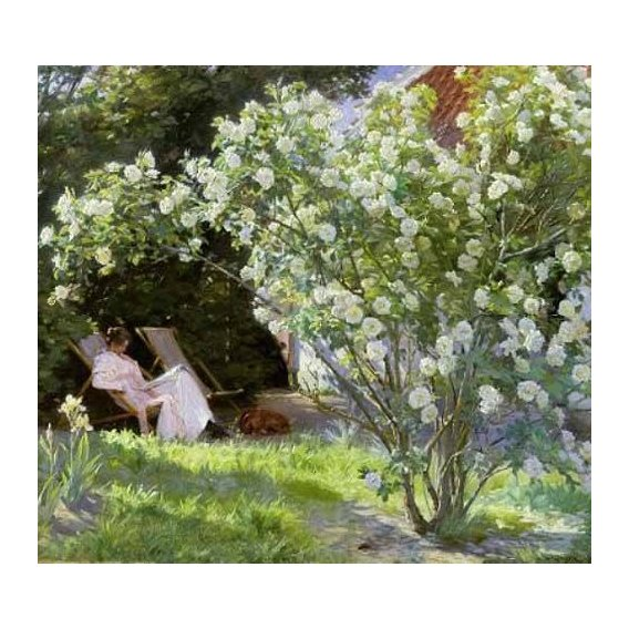 cuadros de flores - Cuadro -Line Roses (The artists wife at Skagen)-