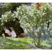 Cuadro -Line Roses (The artists wife at Skagen)-