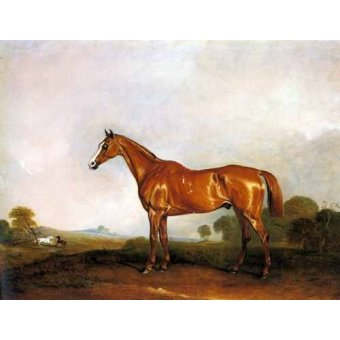 - Cuadro -A Chestnut Hunter in a Landscape- - Ferneley I, John