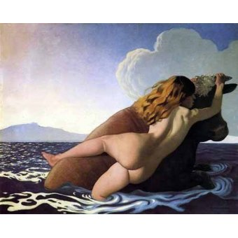 - Cuadro -The Rape of Europa- - Valloton, Felix