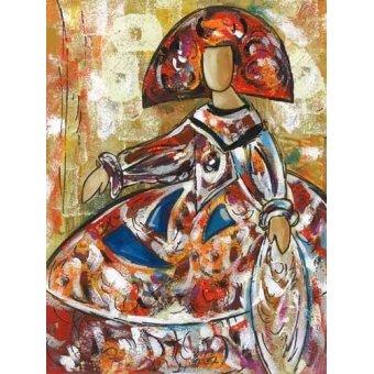 cuadros de retrato - Cuadro -Meninas (I)- - Vicente, E. Ricardo