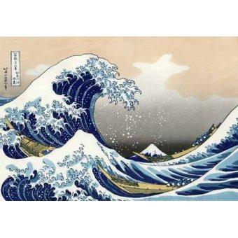 - Cuadro -Tsunami- - Hokusai, Katsushika