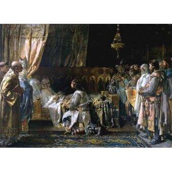 - Cuadro -Los ultimos momentos del rey Don Jaime I El Conquistador- - Pinazo y Camarlench, Ignacio