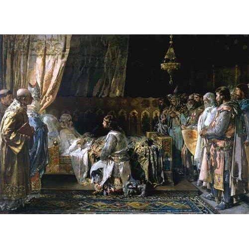 cuadros de retrato - Cuadro -Los ultimos momentos del rey Don Jaime I El Conquistador-