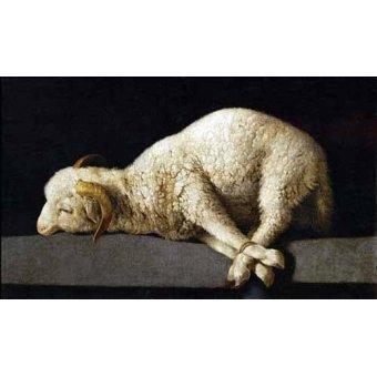 - Cuadro -Agnus Dei, 1635-40- - Zurbaran, Francisco de