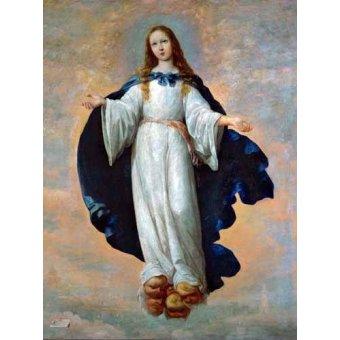 cuadros religiosos - Cuadro -La Inmaculada Concepcion (Purisima)- - Zurbaran, Francisco de