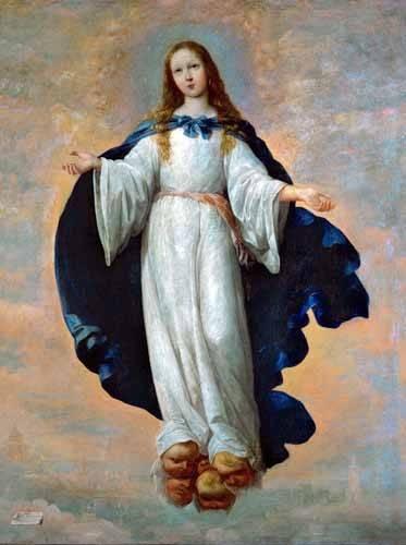 cuadros-religiosos - Cuadro -La Inmaculada Concepcion (Purisima)- - Zurbaran, Francisco de