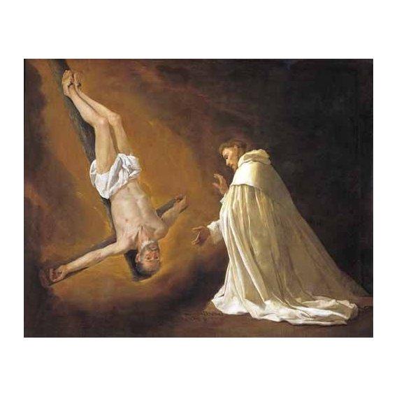 cuadros religiosos - Cuadro -Aparicion de San Pedro Apostol a San pedro Nolasco-