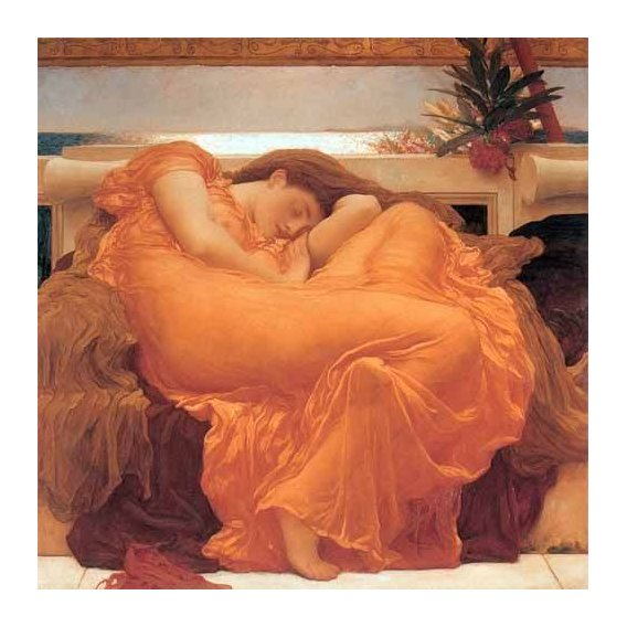 cuadros de retrato - Cuadro -Flaming June-
