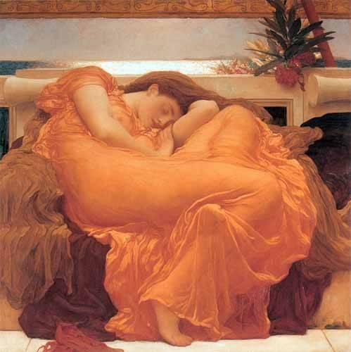 cuadros-de-retrato - Cuadro -Flaming June- - Leighton, Frederick