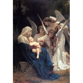 cuadros religiosos - Cuadro -Song of the Angels- - Bouguereau, William