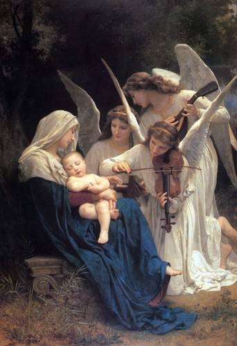 cuadros-religiosos - Cuadro -Song of the Angels- - Bouguereau, William