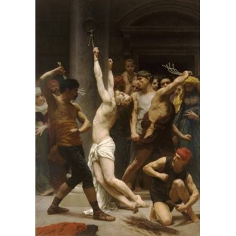 cuadros religiosos - Cuadro -Flagellation of Christ- - Bouguereau, William