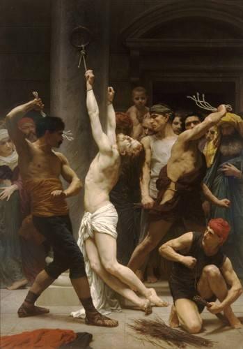 cuadros-religiosos - Cuadro -Flagellation of Christ- - Bouguereau, William