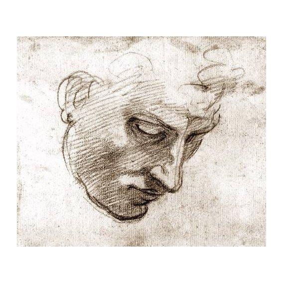 cuadros de retrato - Cuadro -Studio di volto maschile-