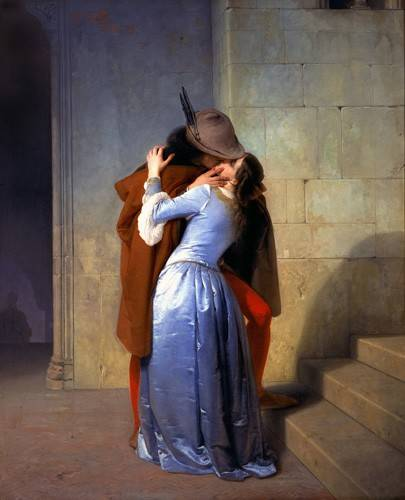 cuadros-de-retrato - Cuadro -The Kiss (El Beso)- - Hayez, Francesco