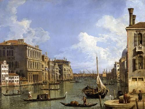 cuadros-de-marinas - Cuadro -Veduta del canal grande- - Canaletto, Giovanni A. Canal