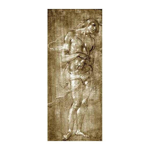 cuadros de mapas, grabados y acuarelas - Cuadro -Figura masculina-