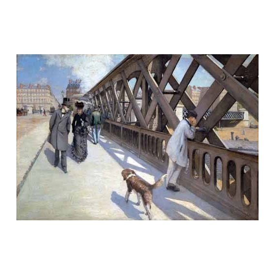 cuadros de paisajes - Cuadro -Le Pont De L Europe, Paris, 1876-