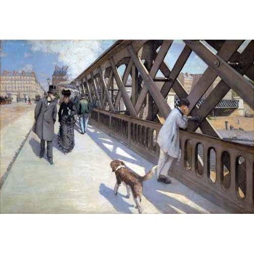Cuadro -Le Pont De L Europe, Paris, 1876-