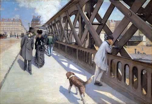 cuadros-de-paisajes - Cuadro -Le Pont De L Europe, Paris, 1876- - Caillebotte, Gustave