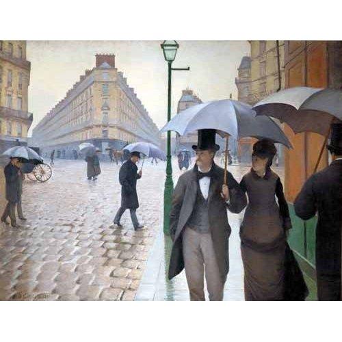 Cuadro -Rue De Paris, Temps de pluie-