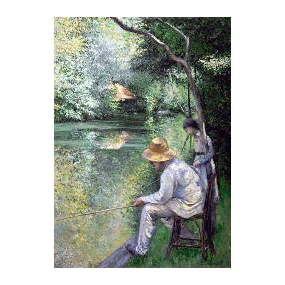 cuadros de paisajes - Cuadro -Peche a la ligne - Angling, 1878-