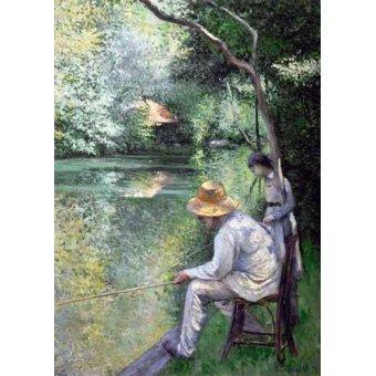 - Cuadro -Peche a la ligne - Angling, 1878- - Caillebotte, Gustave