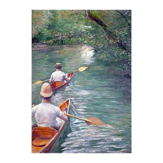 cuadros de paisajes - Cuadro -The Canoes, 1878-