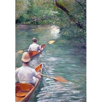 - Cuadro -The Canoes, 1878- - Caillebotte, Gustave