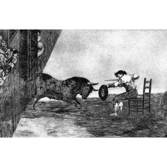 cuadros de mapas, grabados y acuarelas - Cuadro -Tauromaquia Num 18 - Temeridad de Martincho- - Goya y Lucientes, Francisco de