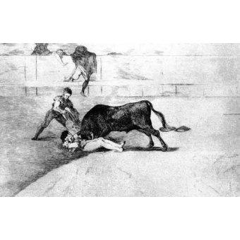 cuadros de mapas, grabados y acuarelas - Cuadro -Tauromaquia Num 33 - Desgraciada muerte de Pepe Illo- - Goya y Lucientes, Francisco de