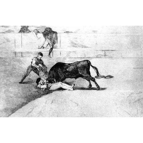 Cuadro -Tauromaquia Num 33 - Desgraciada muerte de Pepe Illo-
