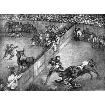 cuadros de mapas, grabados y acuarelas - Cuadro -Plaza partida- - Goya y Lucientes, Francisco de