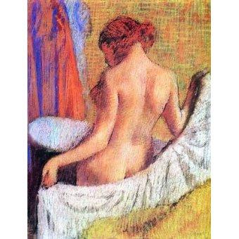 - Cuadro -Después del baño- - Degas, Edgar