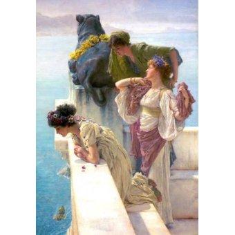 - Cuadro -A Coign Of Vantage- - Alma-Tadema, Lawrence