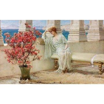 - Cuadro -Su mirada y sus pensamientos se encuentran en la lejania, 1897- - Alma-Tadema, Lawrence